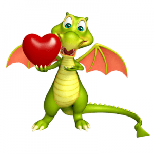 Valentine card for Dragon speech recognition